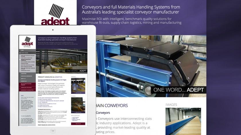 Adept Conveyor Website