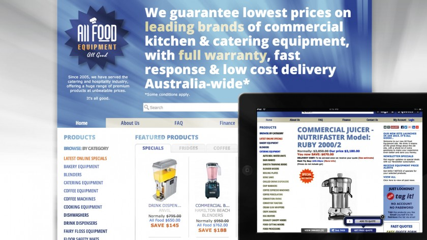 All Food Equipment Website