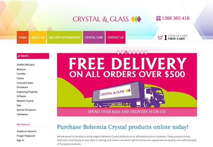 Crystal & Glass website