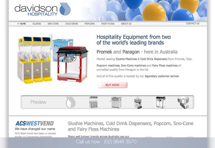 Davidson Hospitality website