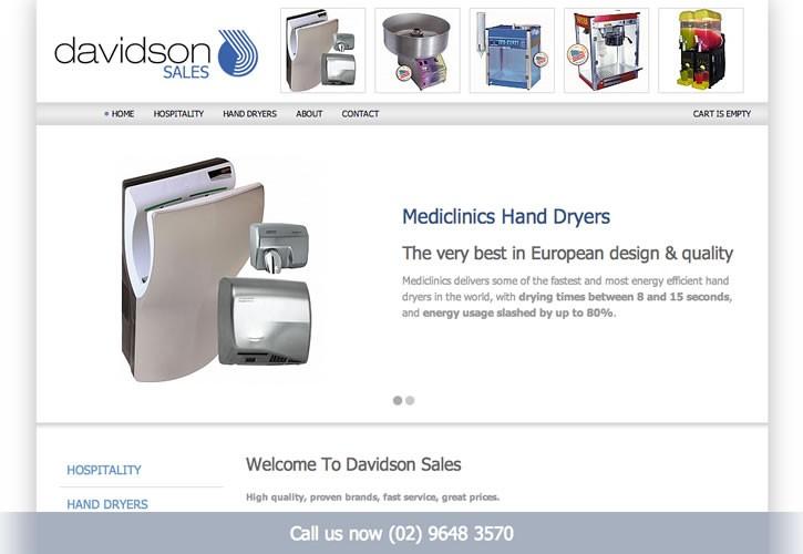 Davidson Sales website