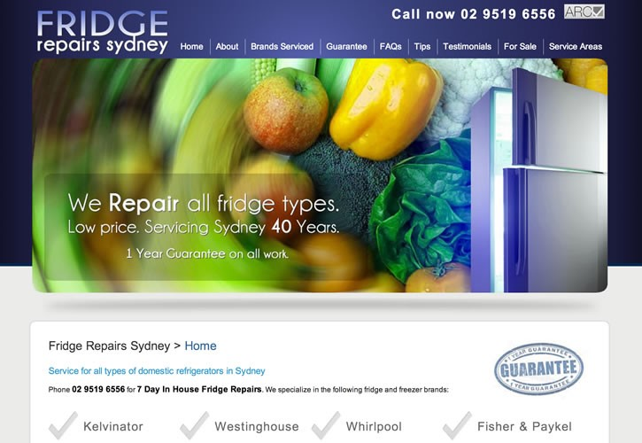 Fridge Repairs website