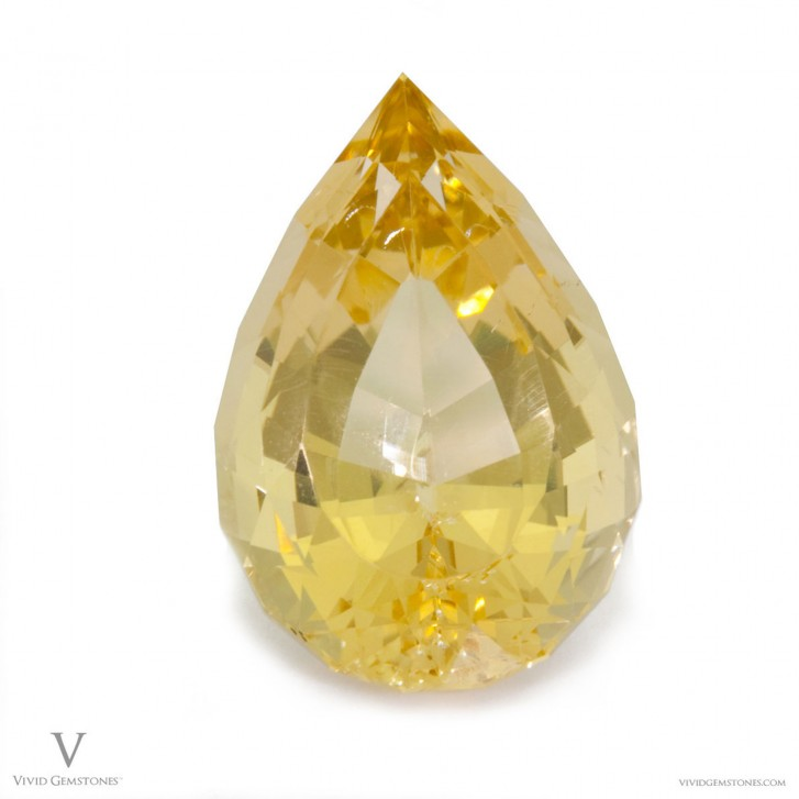 Net Grows photography of a Golden Beryl gem stone