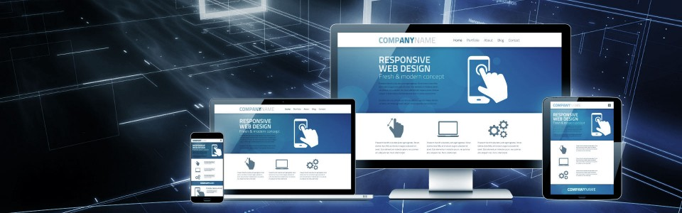 Responsive web design for desktops, laptops, tablets & mobile