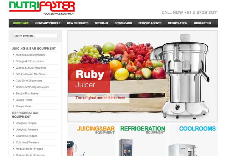 Nutrifaster website