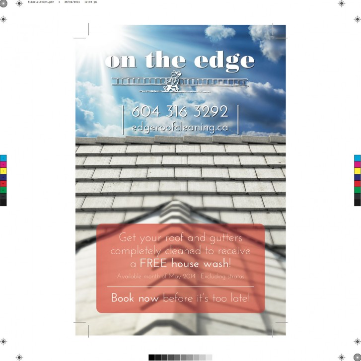 Flyer design (front) for On The Edge