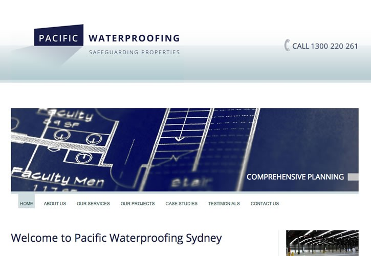 Pacific Waterproofing website