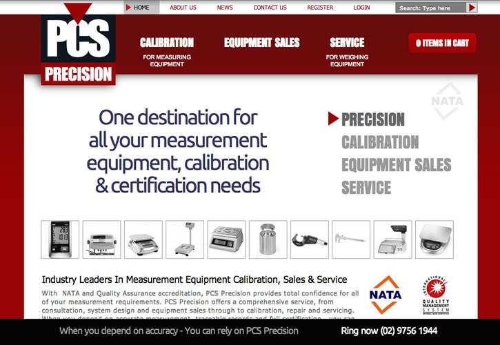 PCS Precision website