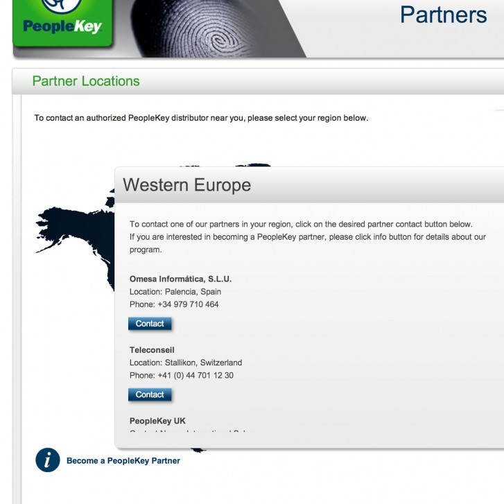 Partners list view