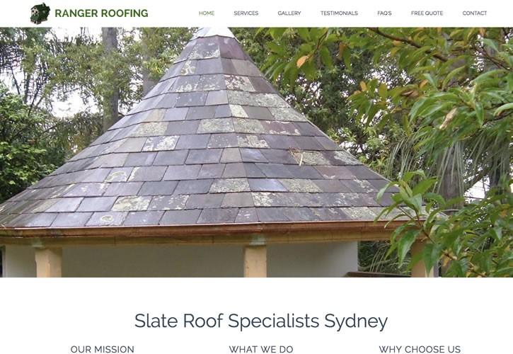 Ranger Roofing website