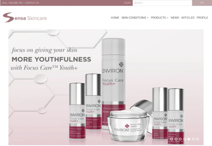 Sensa Skincare website