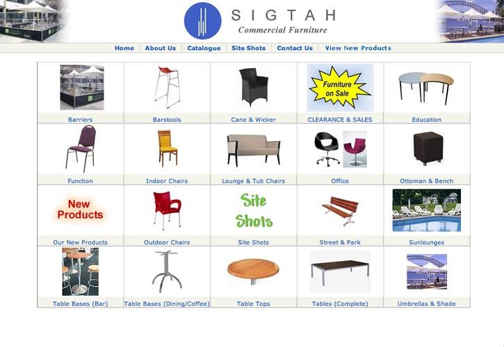Sigtah Furniture website