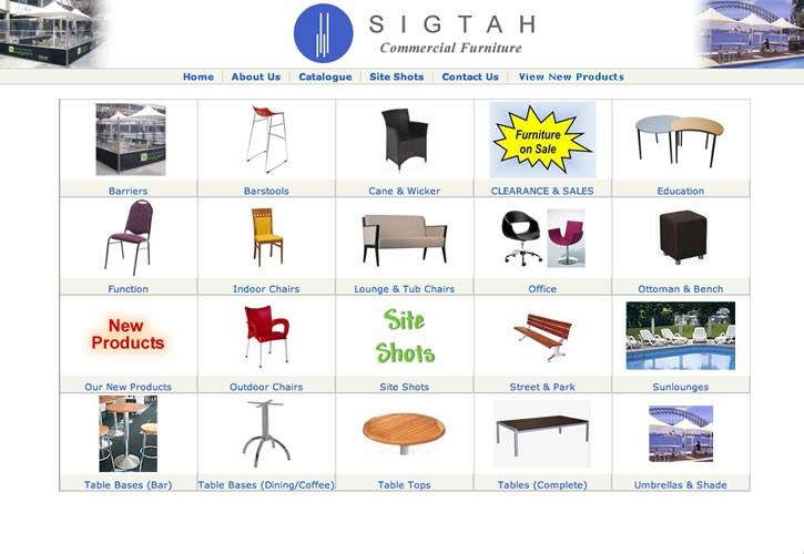 Sigtah Furniture website