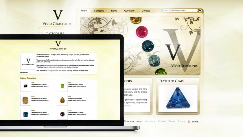 Vivid Gemstones Website