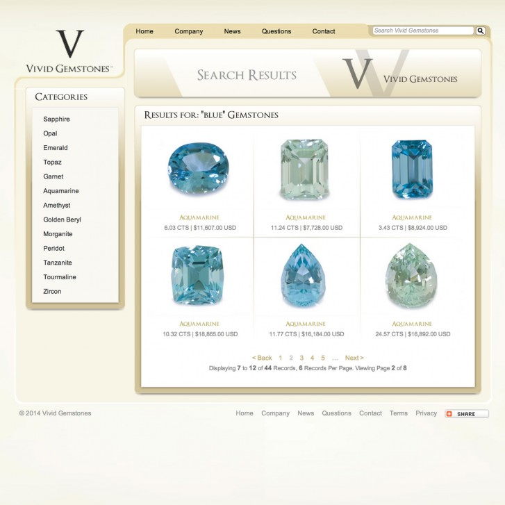 Vivid Gemstones search results