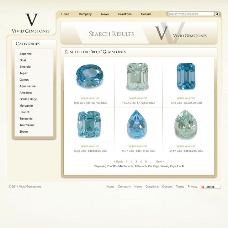 Vivid Gemstones search results