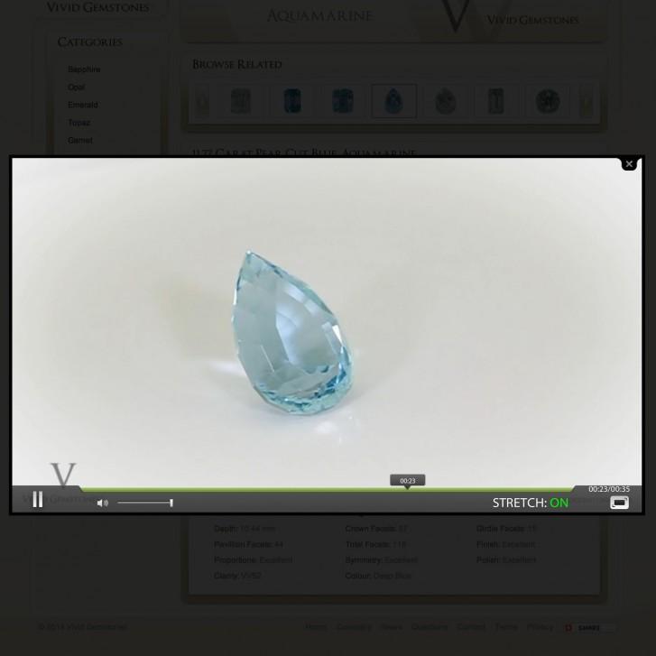 HD gem stone video